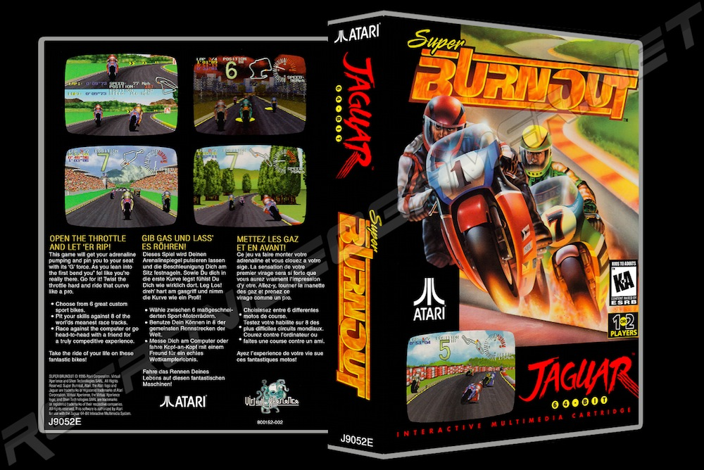 Super Burnout -  Game Case