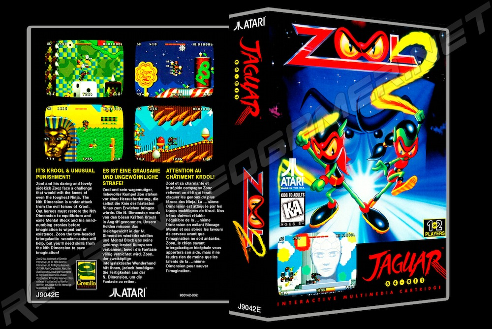 Zool 2 -  Game Case