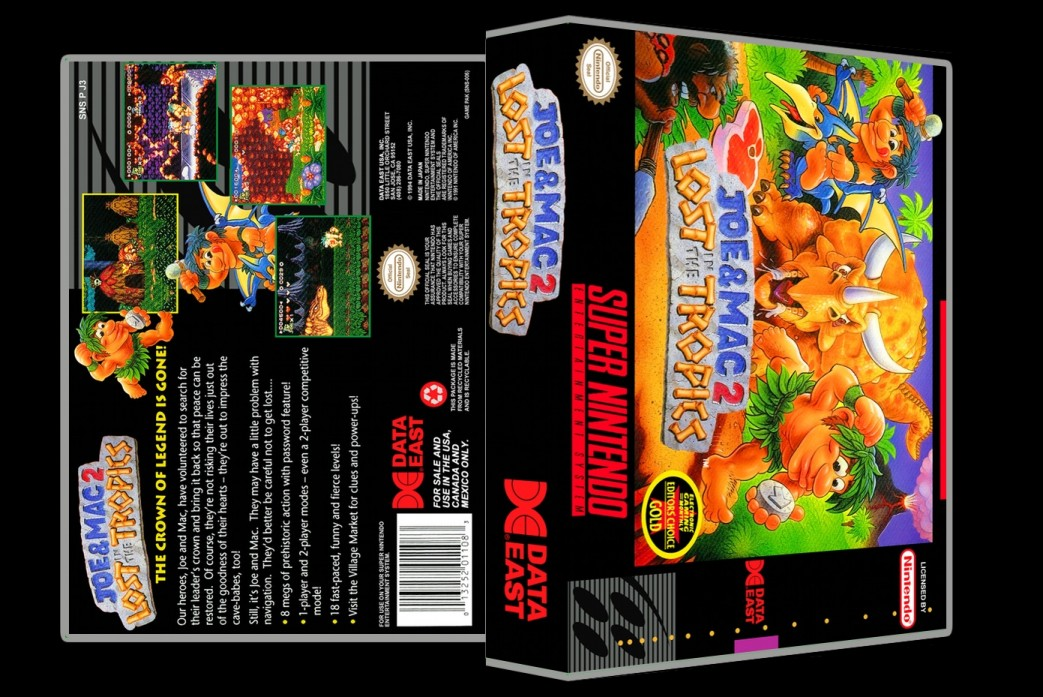 Joe and Mac 2: Lost in the Tropics -  Game Case
