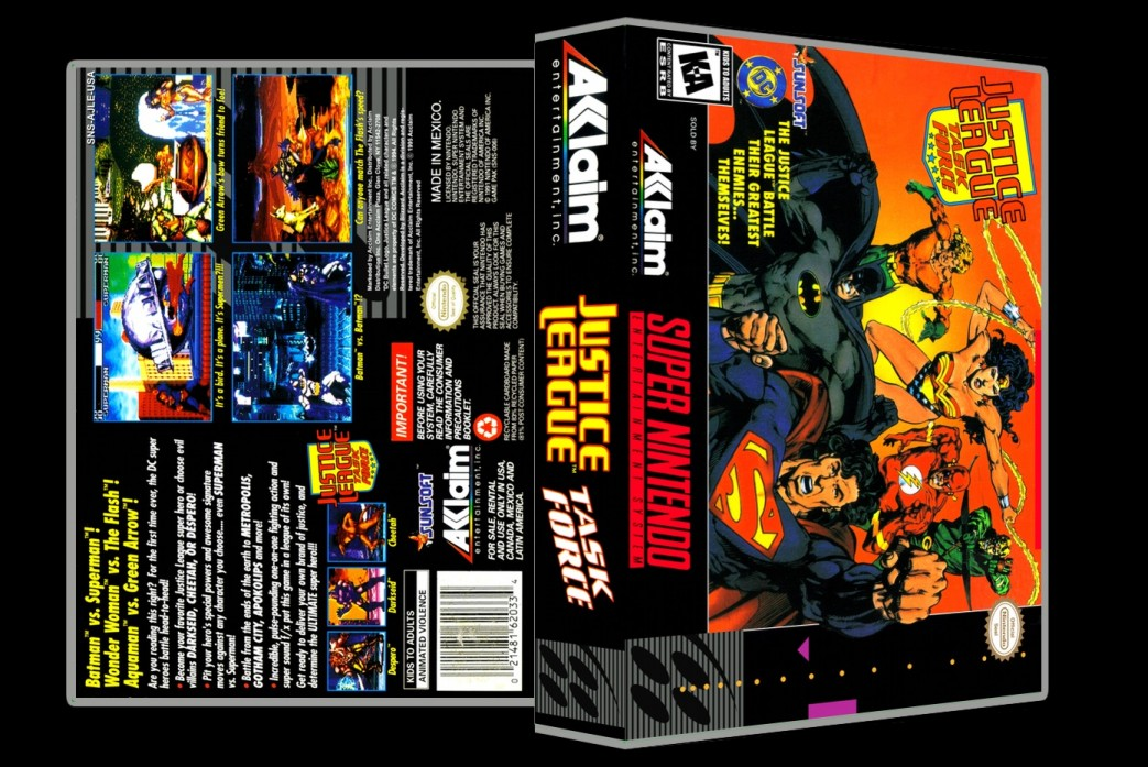 Justice League Task Force -  Game Case