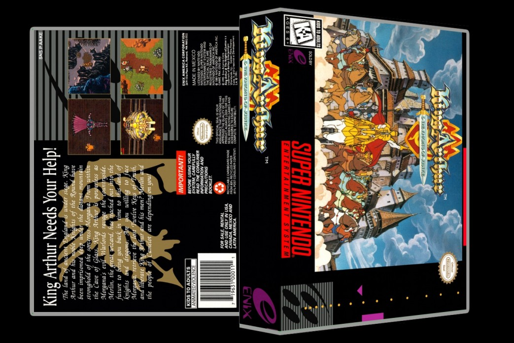 King Arthur and The Knights of Justice -  Game Case