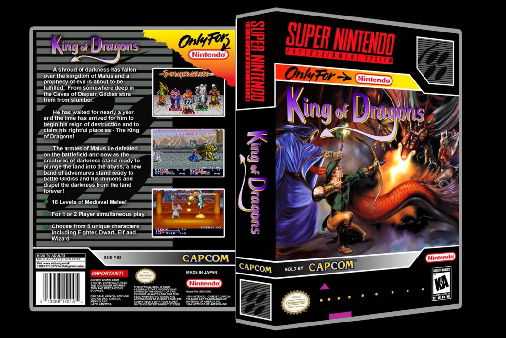 King of Dragons -  Game Case