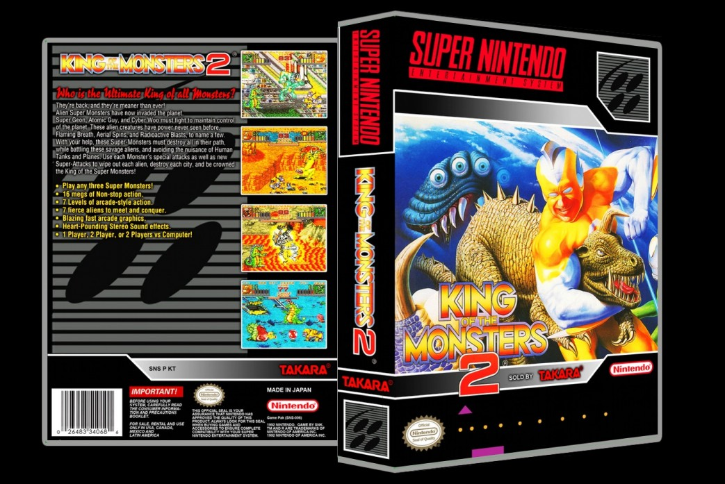 King of the Monsters 2 -  Game Case