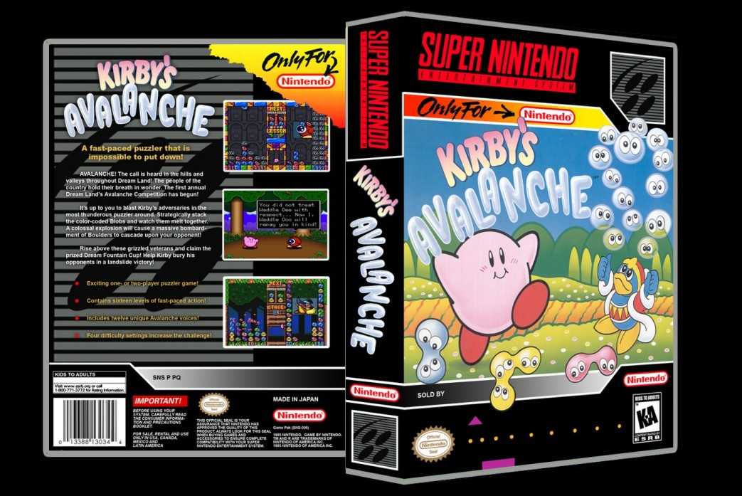 Kirby's Avalanche -  Game Case