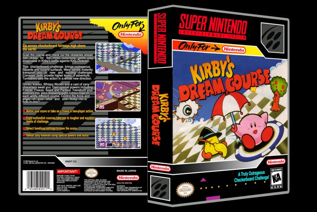 Kirby's Dream Course -  Game Case