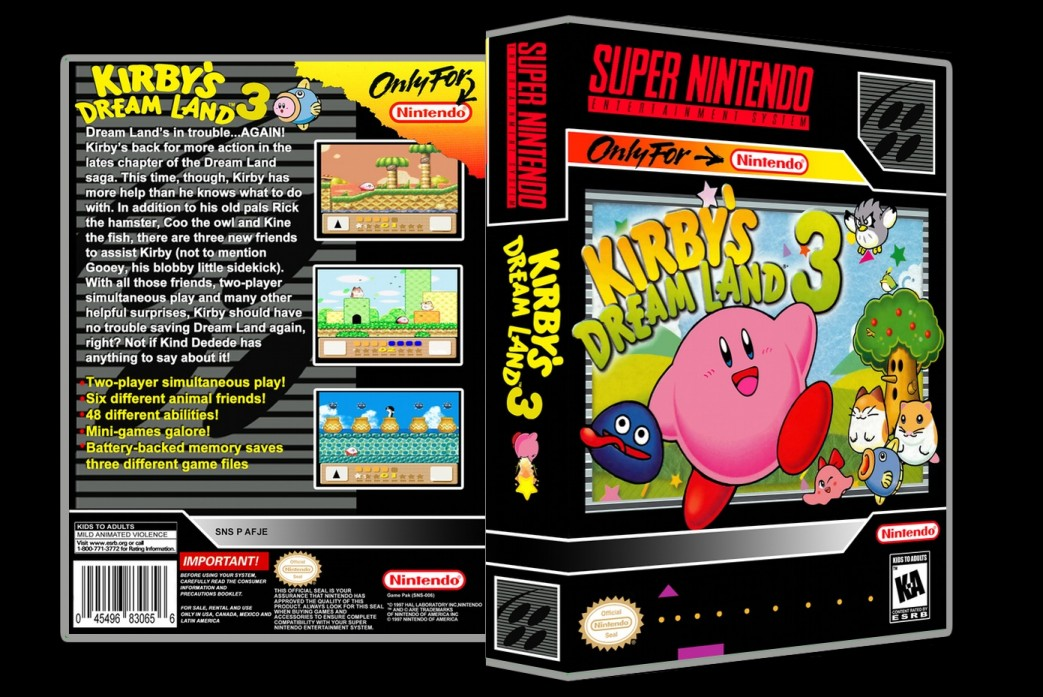 Kirby's Dream Land 3 -  Game Case