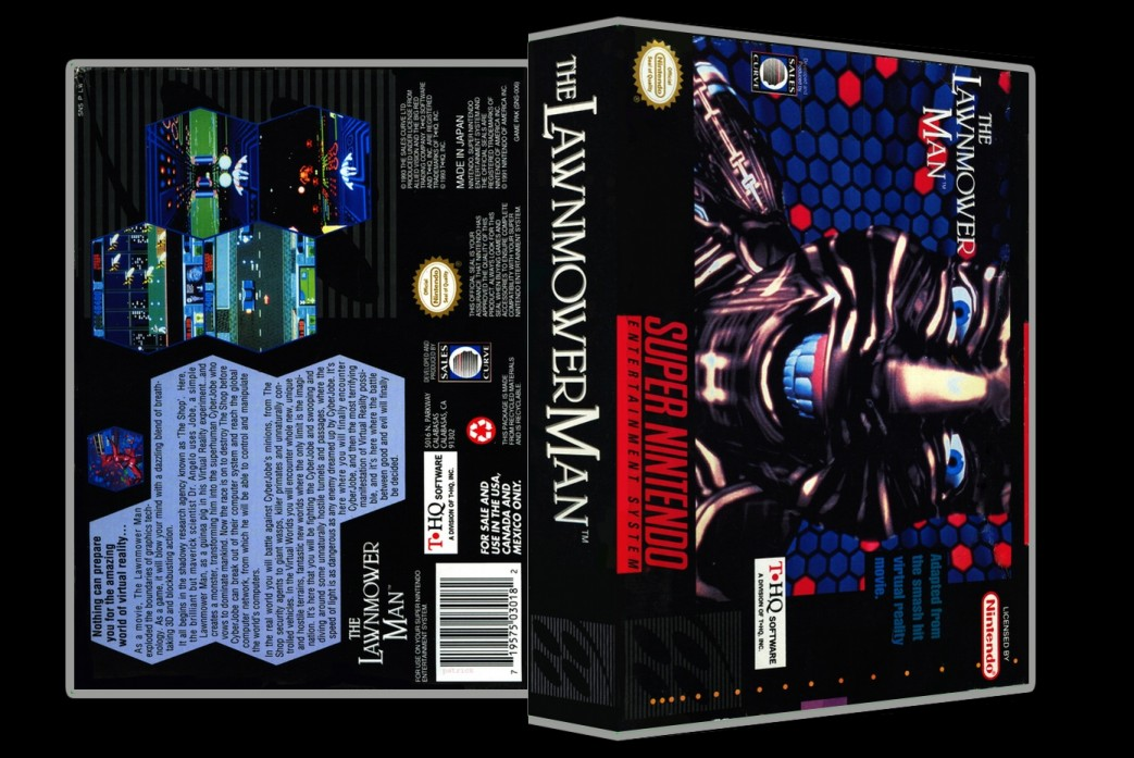 Lawnmower Man -  Game Case