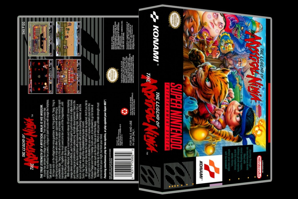 Legend of the Mystical Ninja -  Game Case