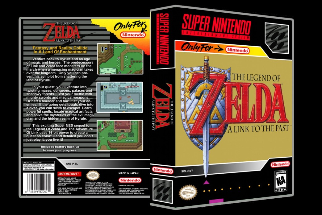 Legend of Zelda: A Link to the Past -  Game Case