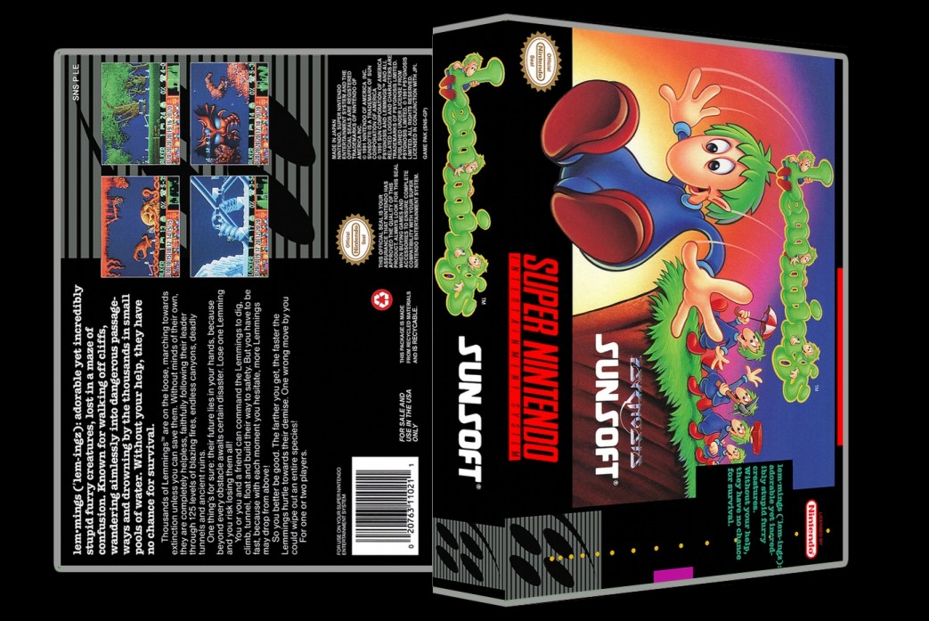 Lemmings -  Game Case