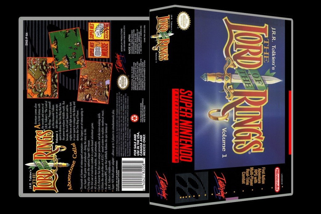 Lord of the Rings -  Game Case