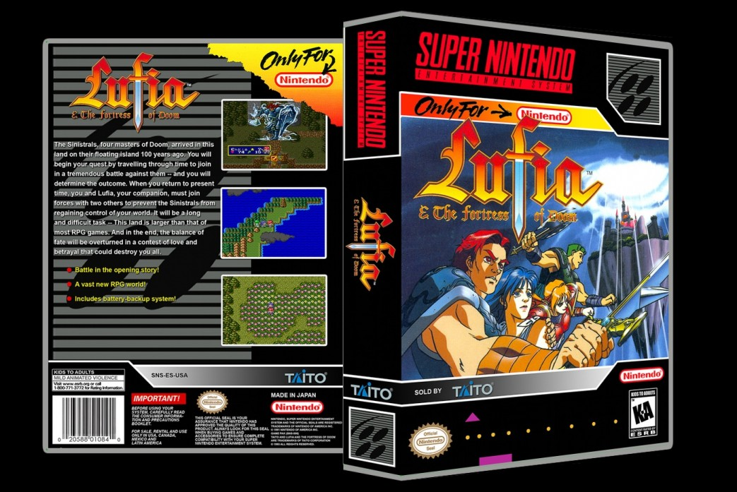 Lufia and The Fortress of Doom -  Game Case