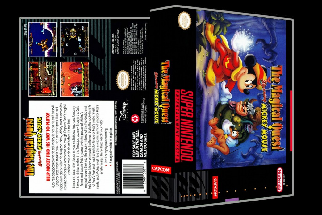 Magical Quest Starring Mickey Mouse -  Game Case