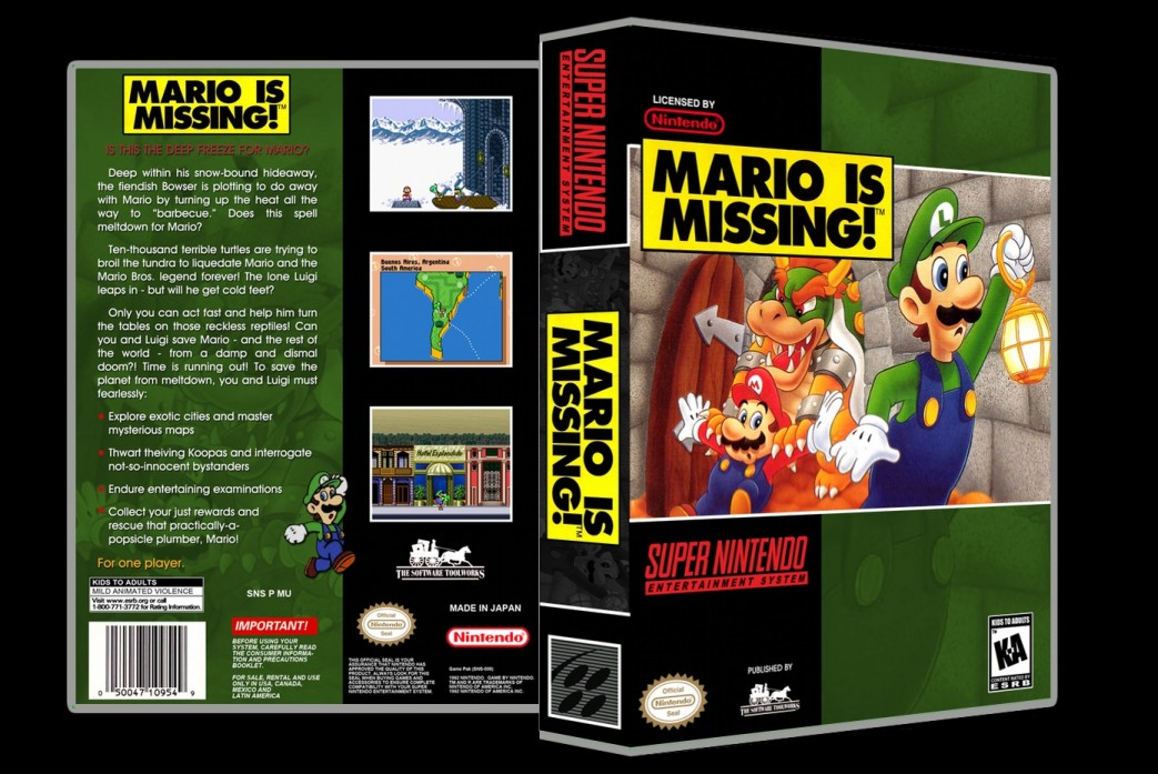 Mario Is Missing -  Game Case