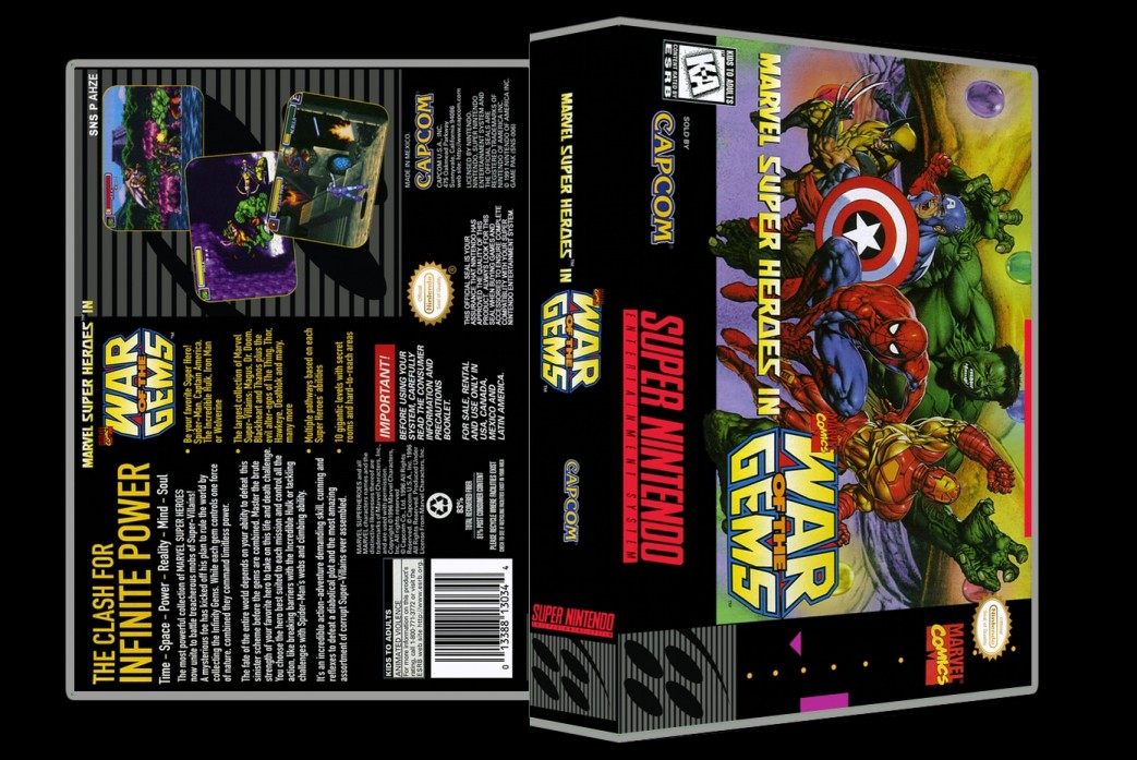 Marvel Super Heroes in War of the Gems -  Game Case