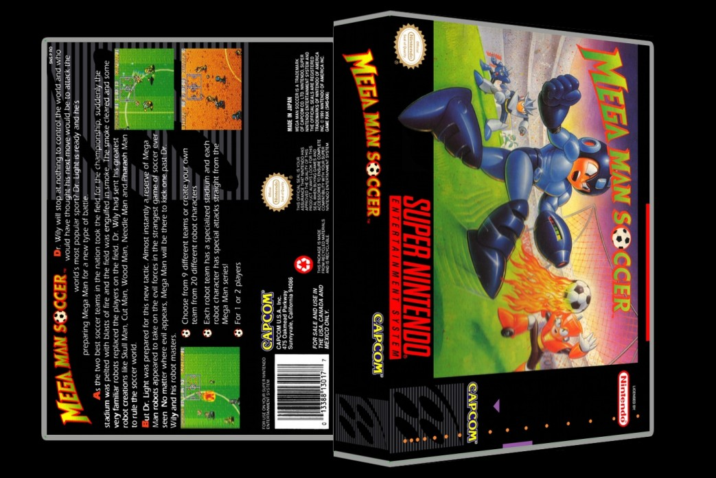Mega Man Soccer -  Game Case