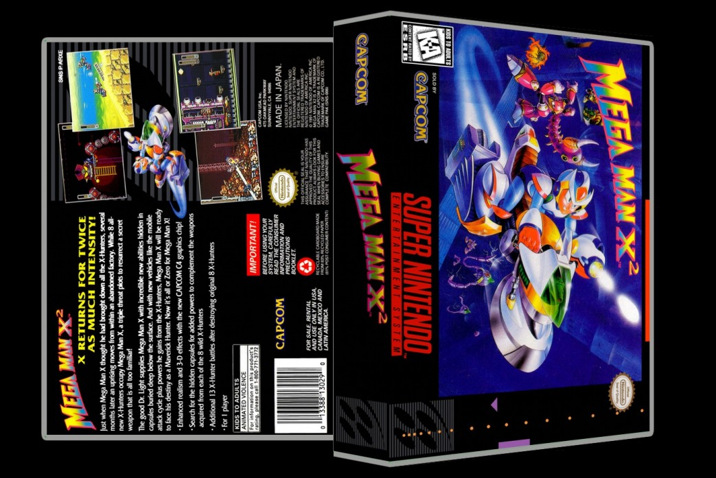 Mega Man X2 -  Game Case