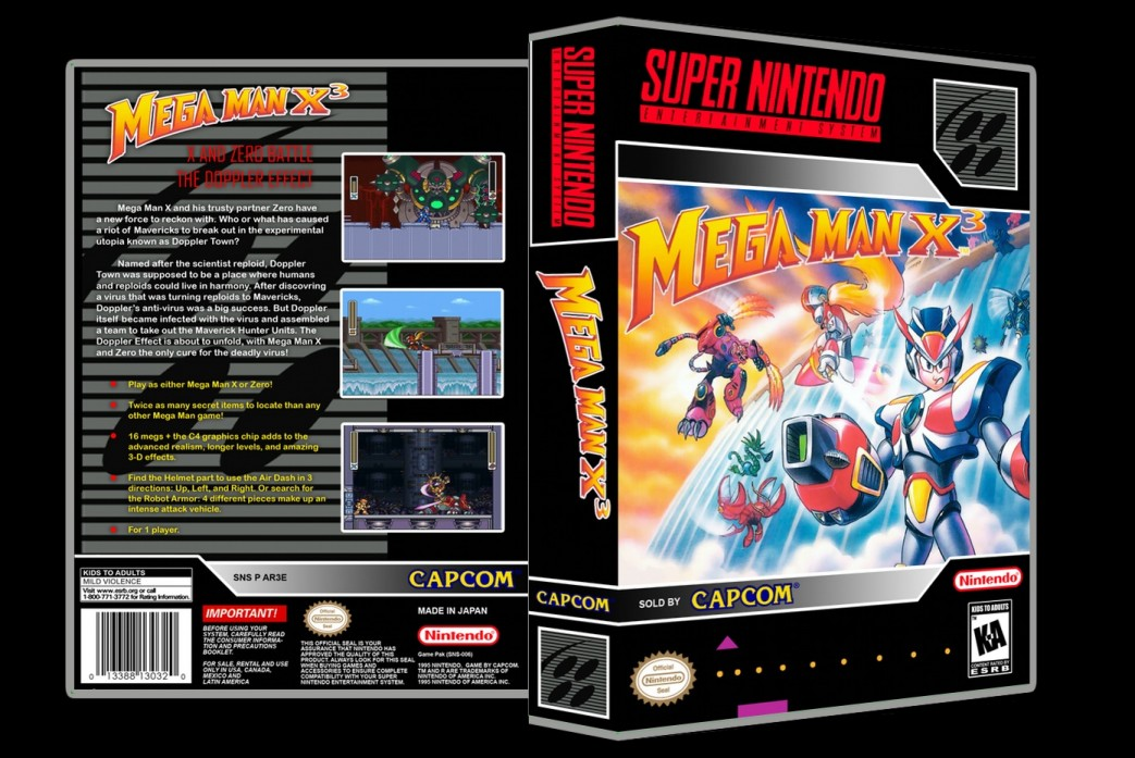 Mega Man X3 -  Game Case