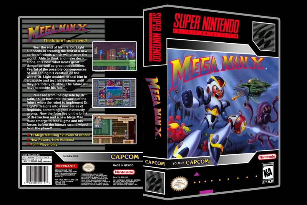 Mega Man X -  Game Case