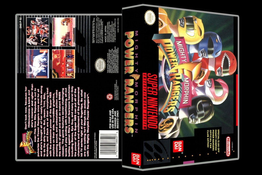 Mighty Morphin Power Rangers -  Game Case