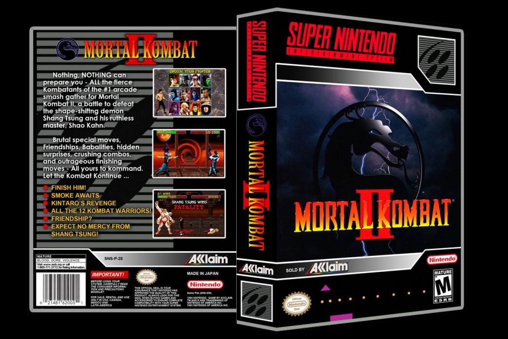 Mortal Kombat II -  Game Case