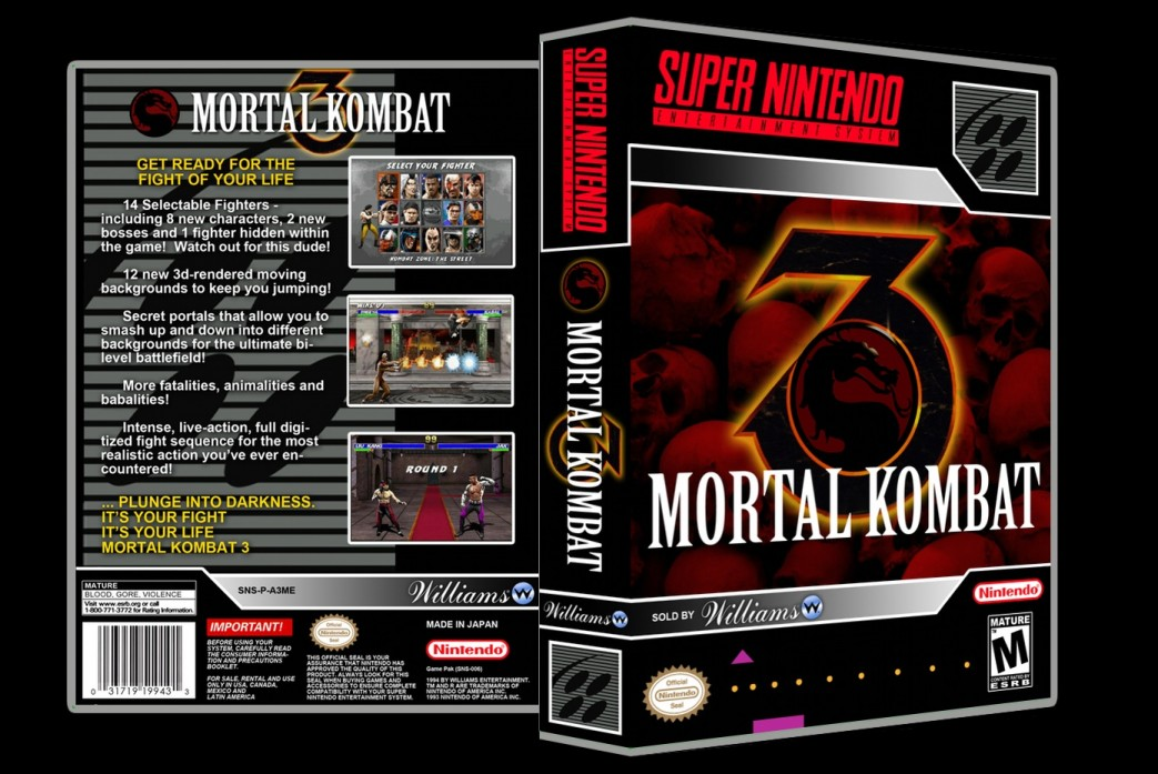 Mortal Kombat 3 -  Game Case