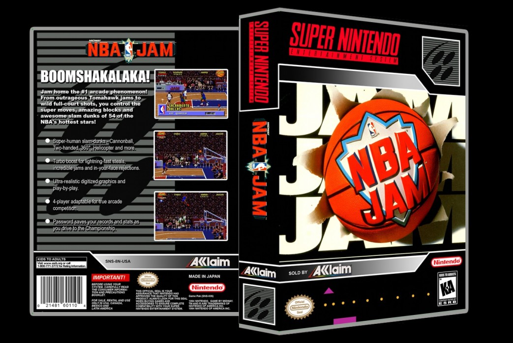 NBA Jam -  Game Case