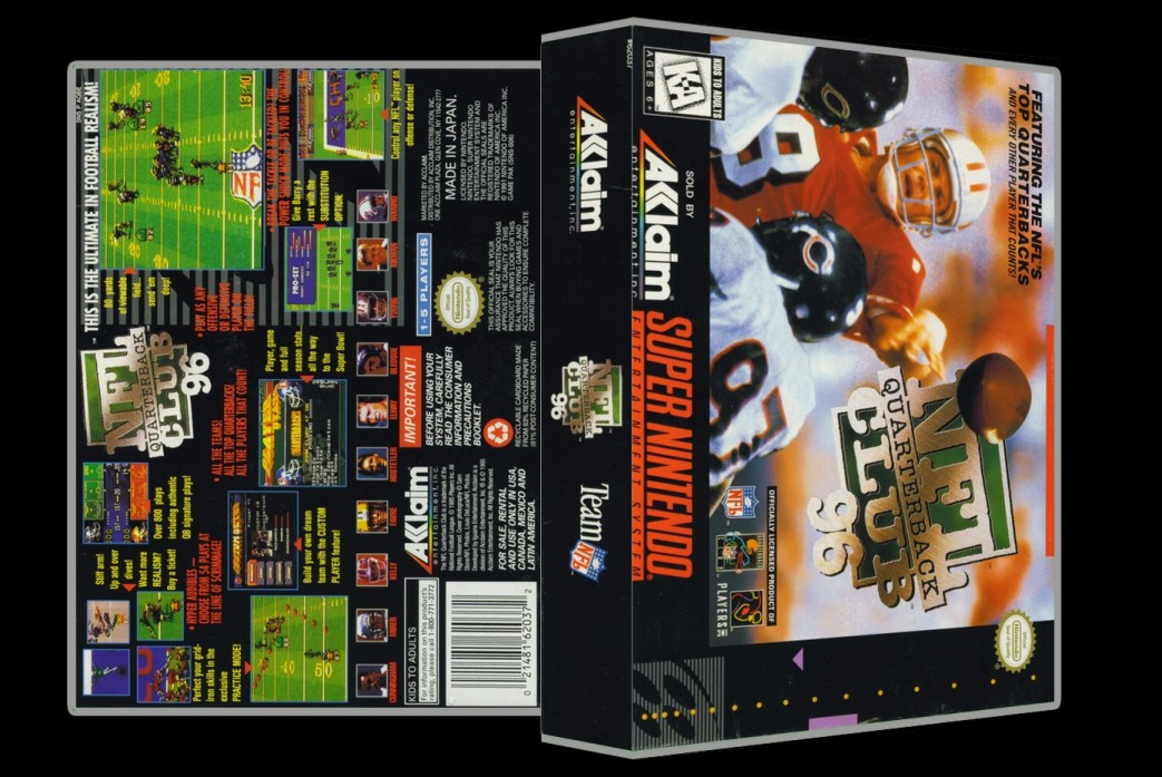 NFL Quarterback Club -  Game Case