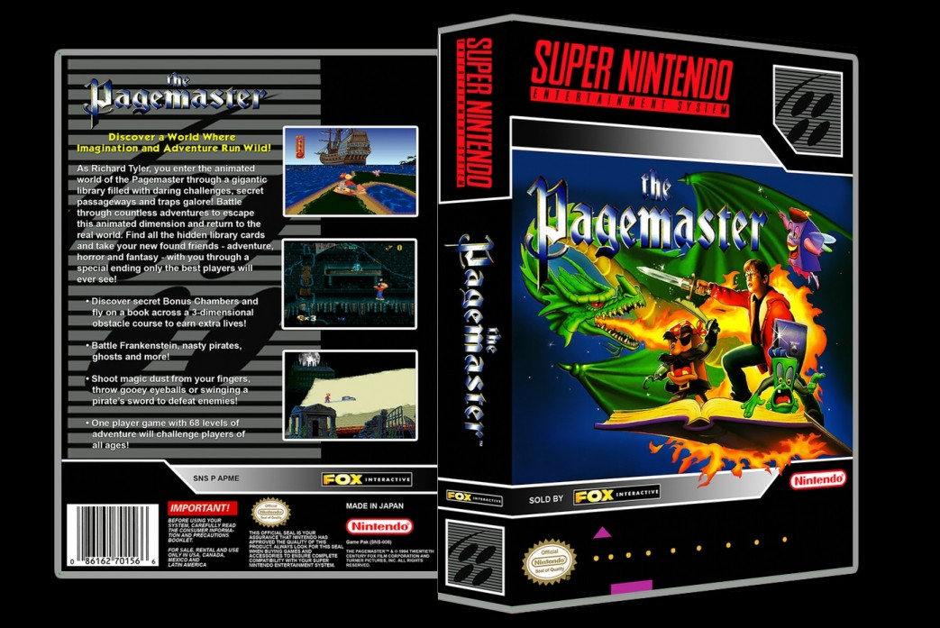 Pagemaster -  Game Case