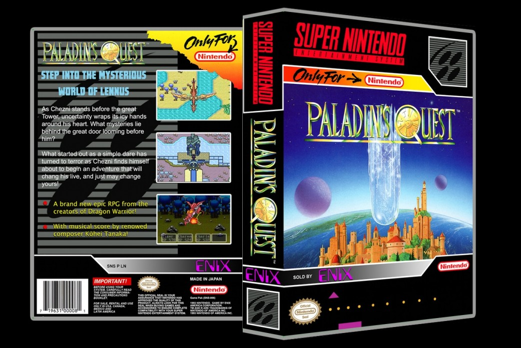 Paladin's Quest -  Game Case