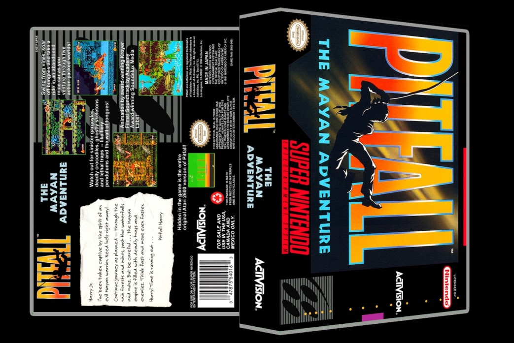 Pitfall The Mayan Adventure -  Game Case