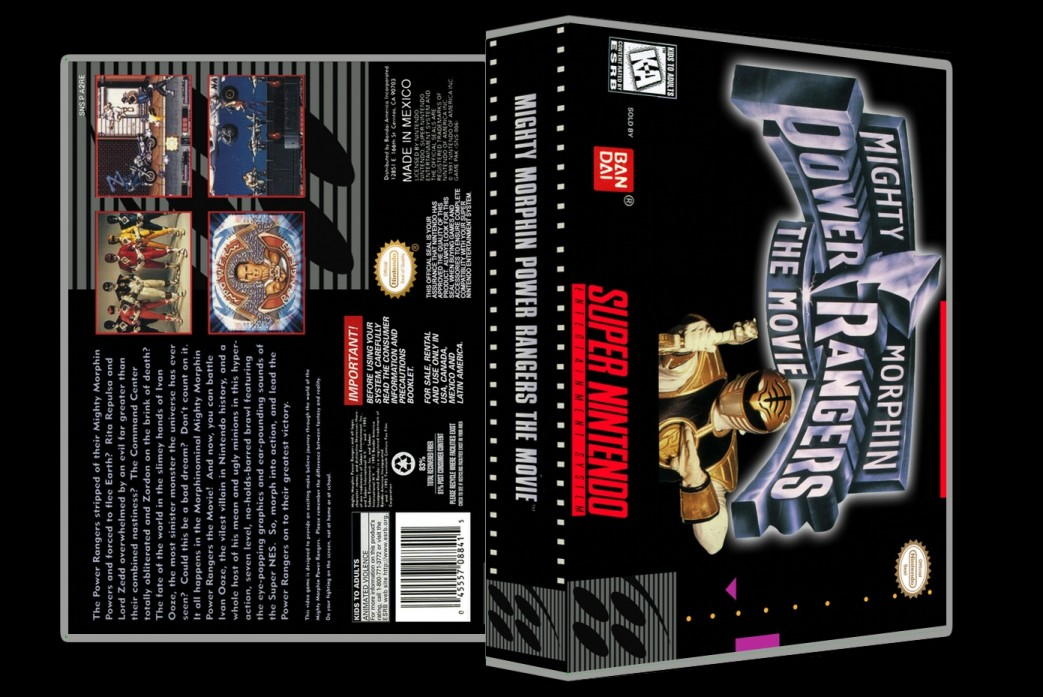 Power Rangers The Movie -  Game Case