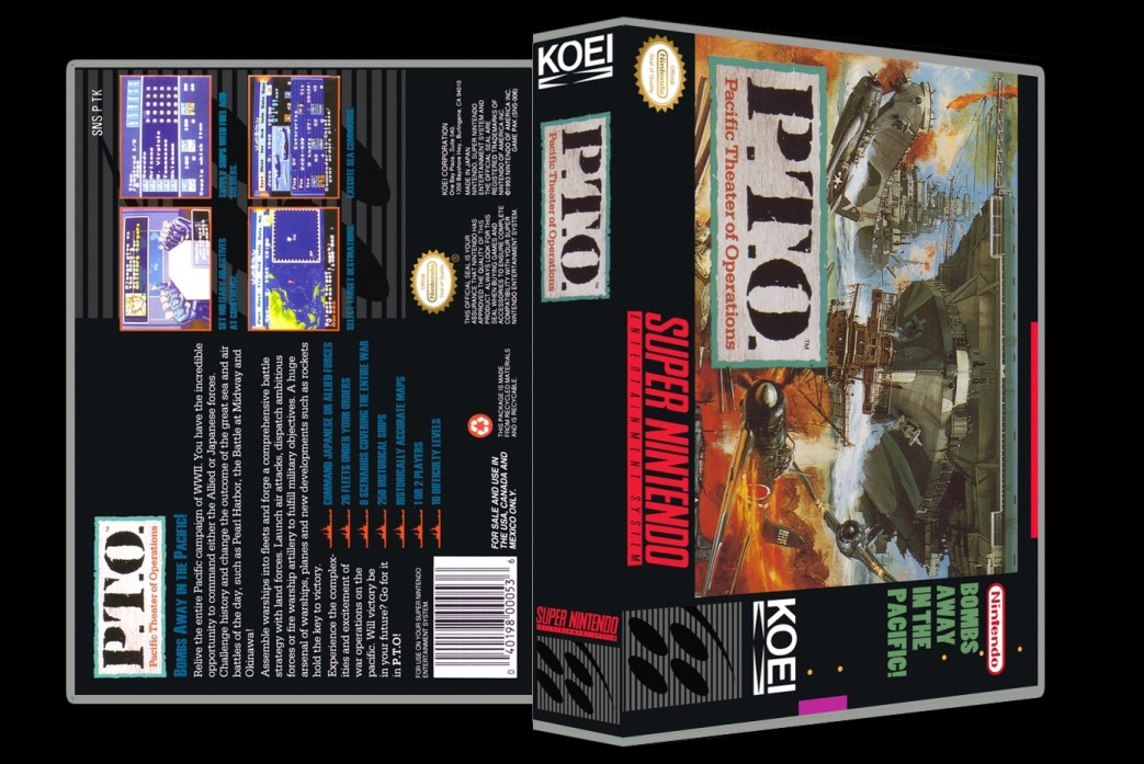 P.T.O. Pacific Theater of Operations -  Game Case