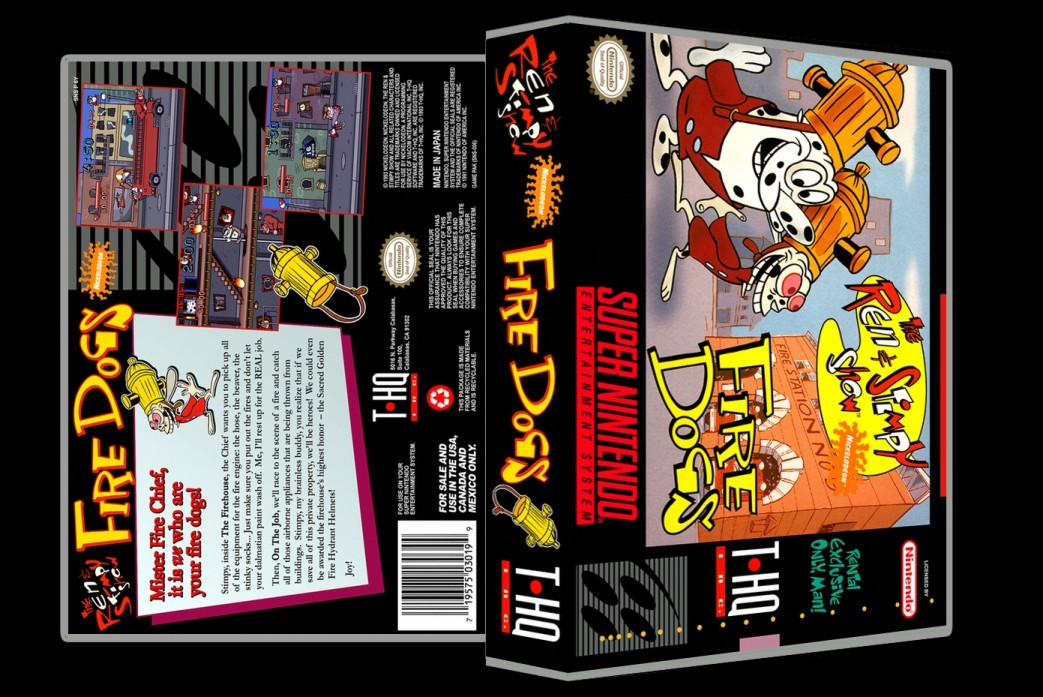 Ren and Stimpy Show: Fire Dogs -  Game Case