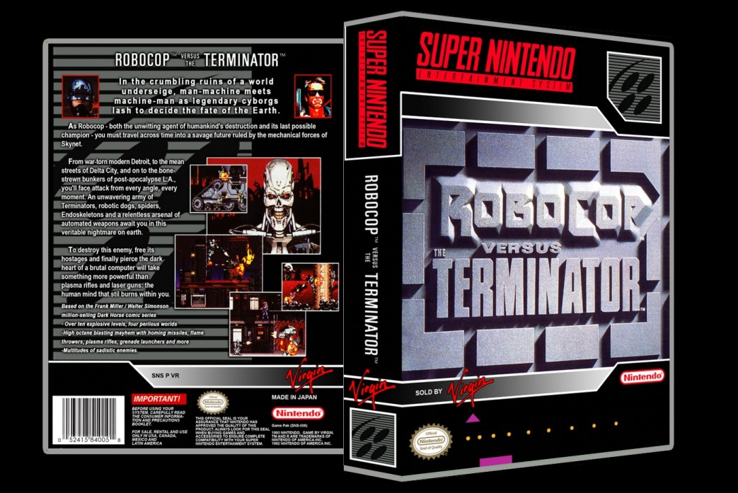 Robocop Vs Terminator -  Game Case