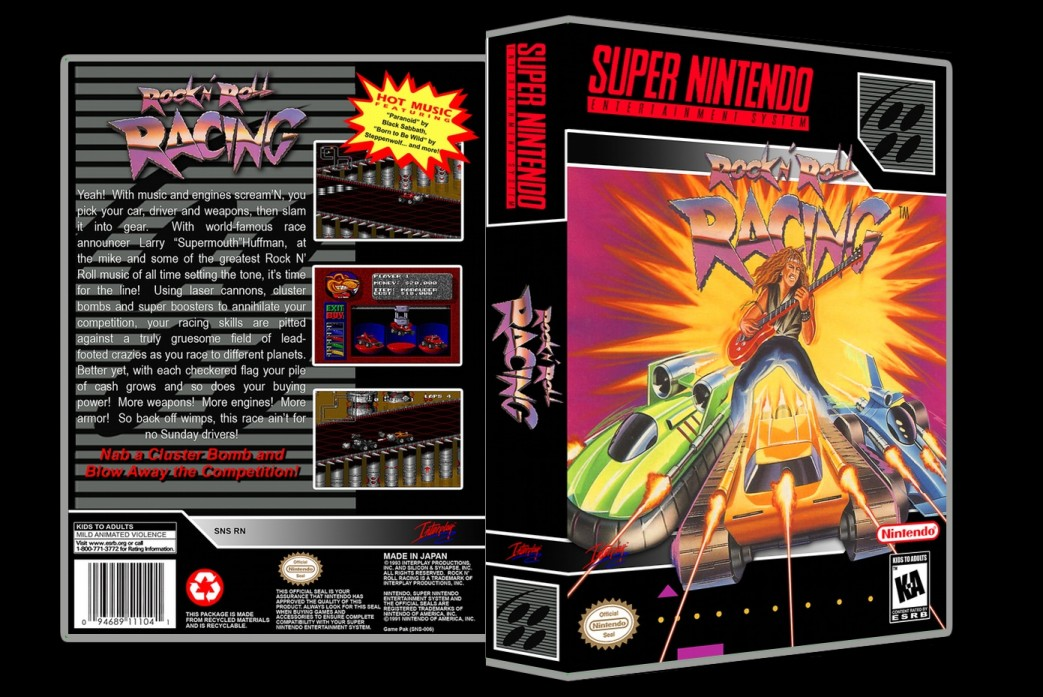 Rock and Roll Racing -  Game Case