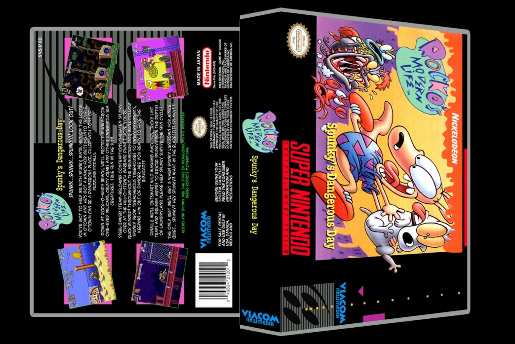 Rocko's Modern Life: Spunky's Dangerous Day -  Game Case