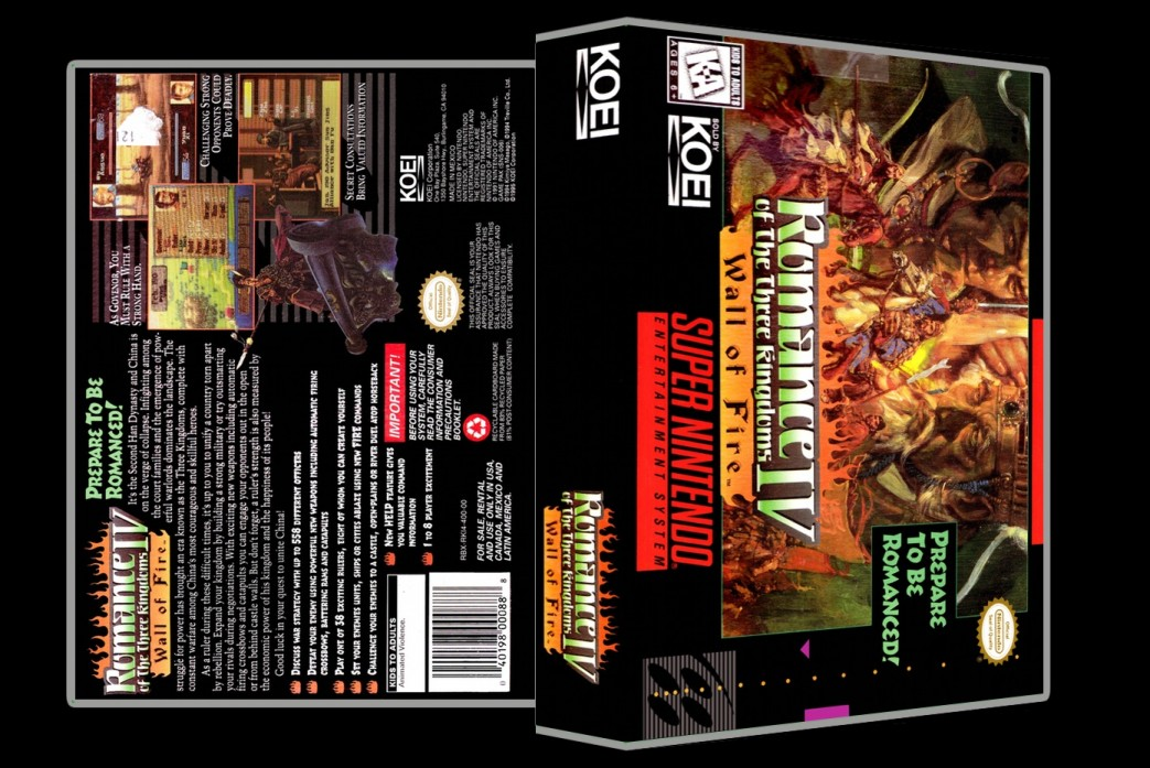 Romance of the Three Kingdoms IV: Wall of Fire -  Game Case