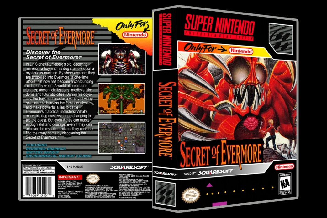 Secret of Evermore -  Game Case