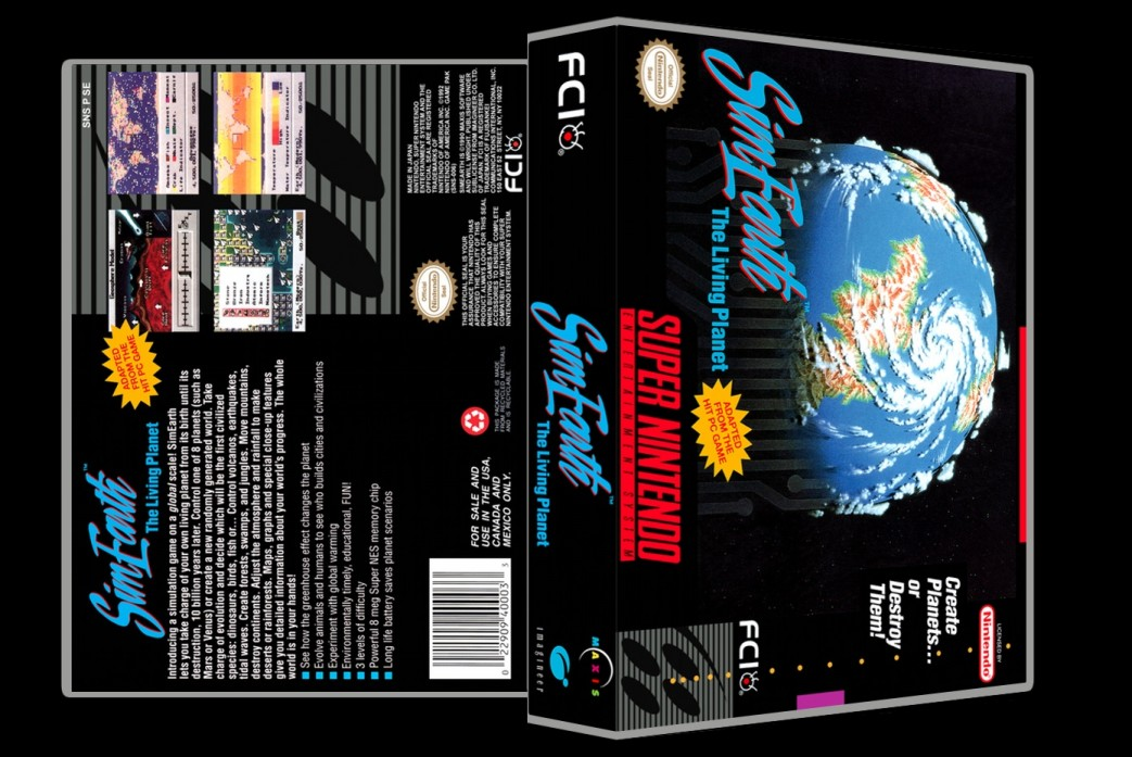 Sim Earth -  Game Case