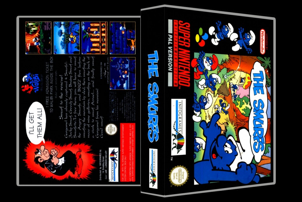 Smurfs -  Game Case