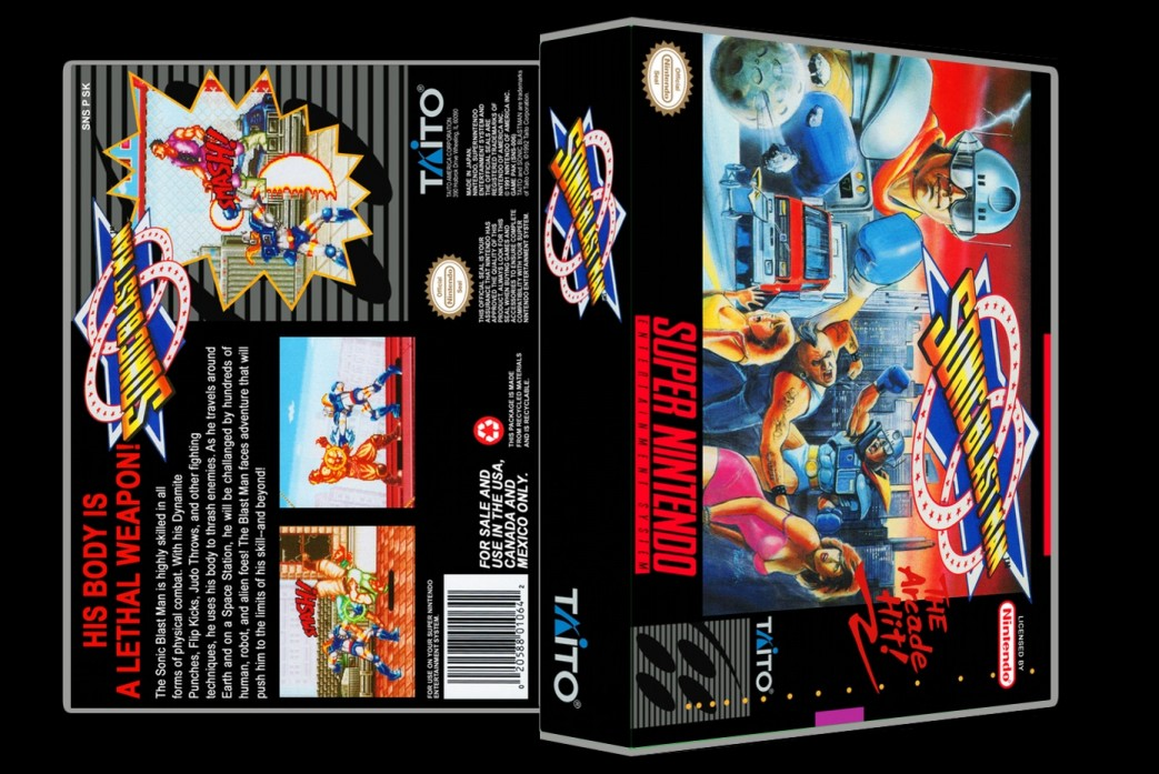 Sonic Blast Man -  Game Case