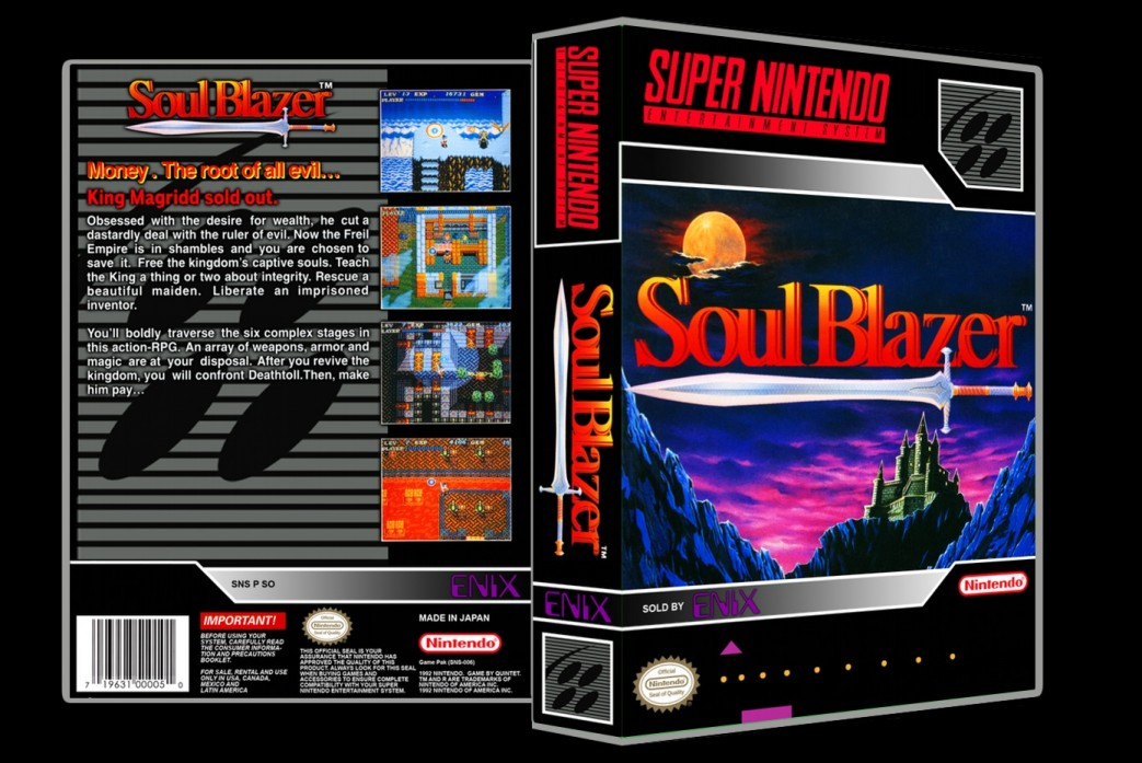 Soul Blazer -  Game Case
