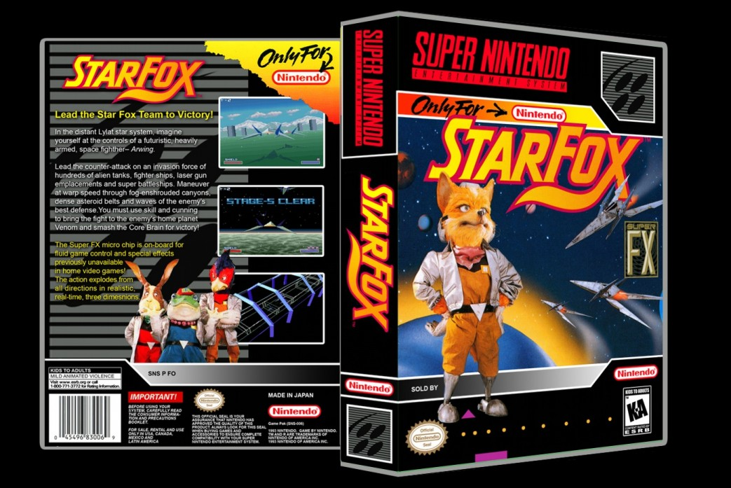 Star Fox -  Game Case