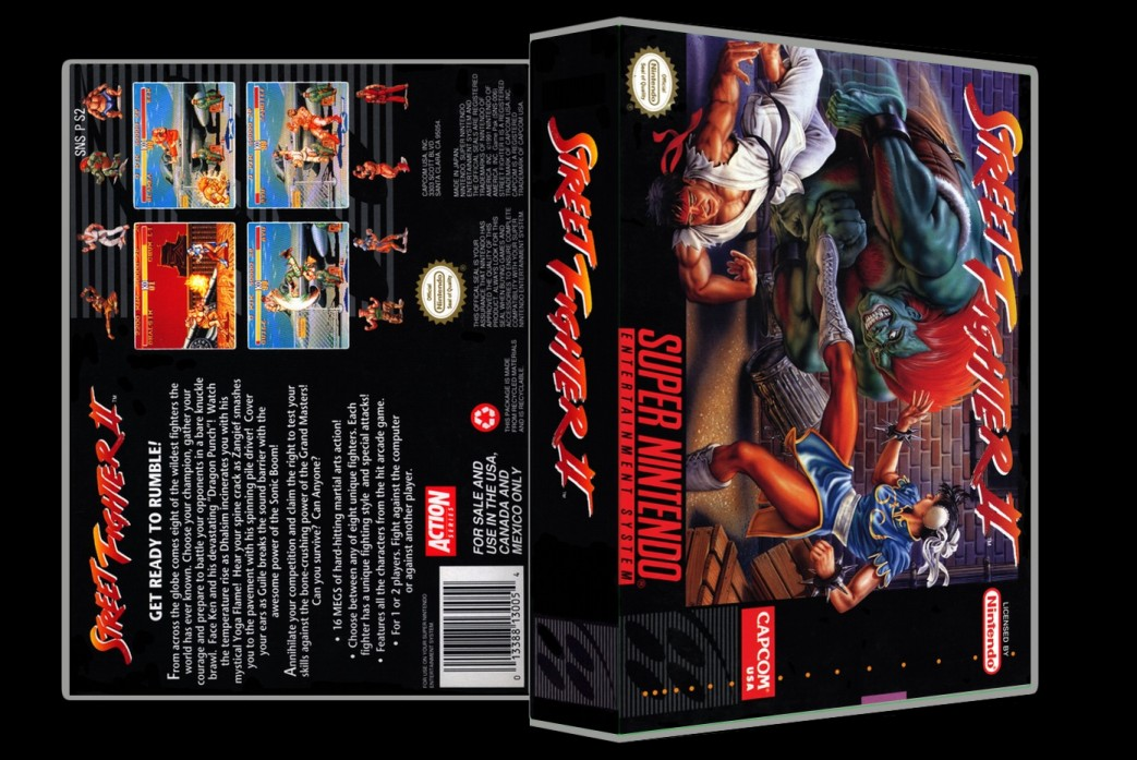 Street Fighter II -  Game Case