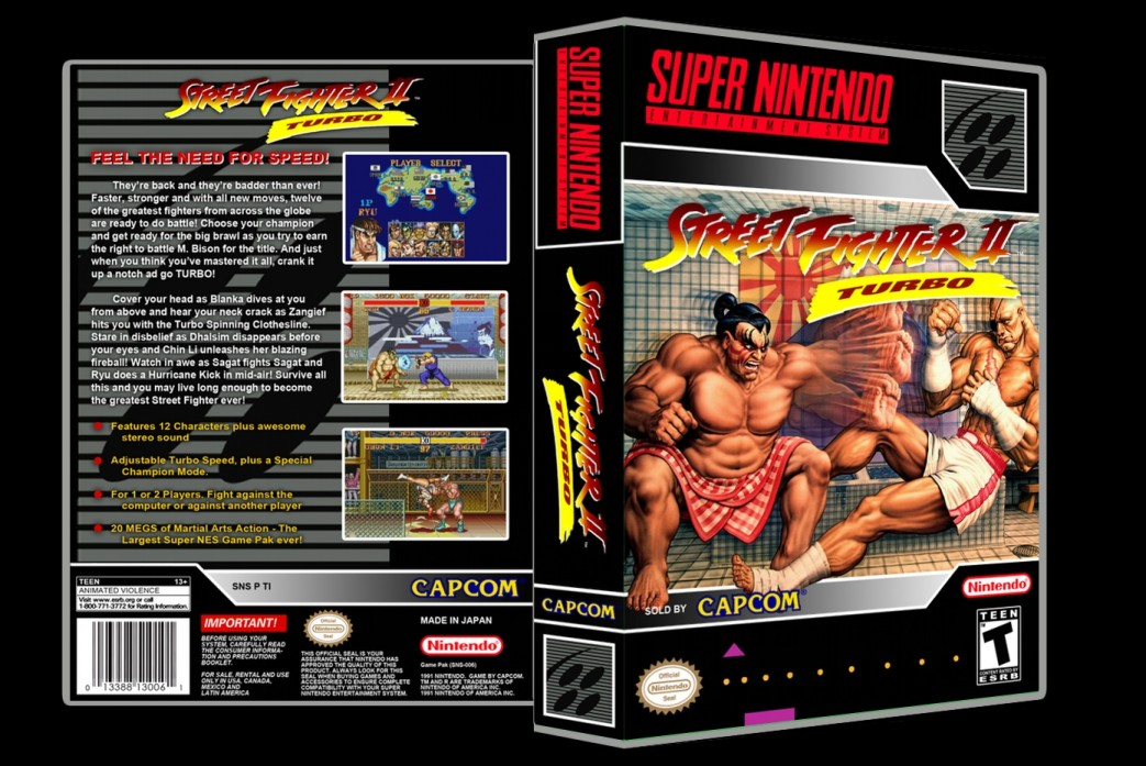 Street Fighter II Turbo -  Game Case
