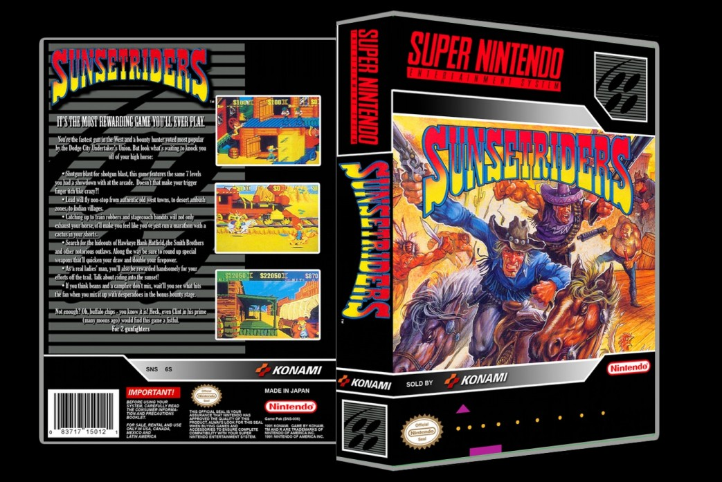 Sunset Riders -  Game Case