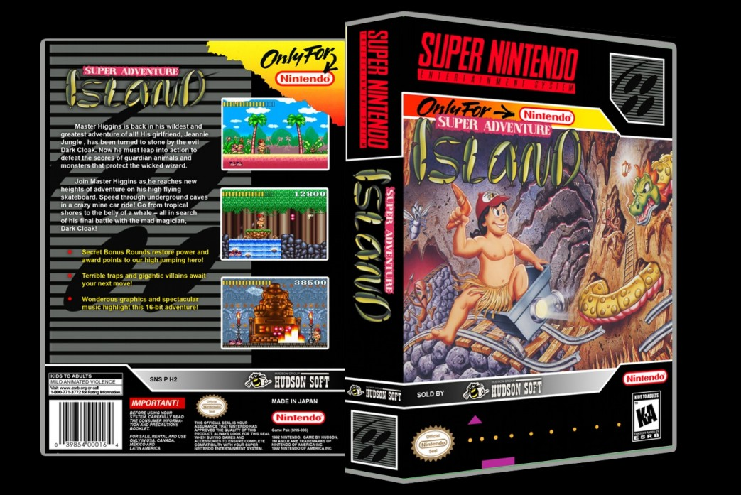 Super Adventure Island -  Game Case