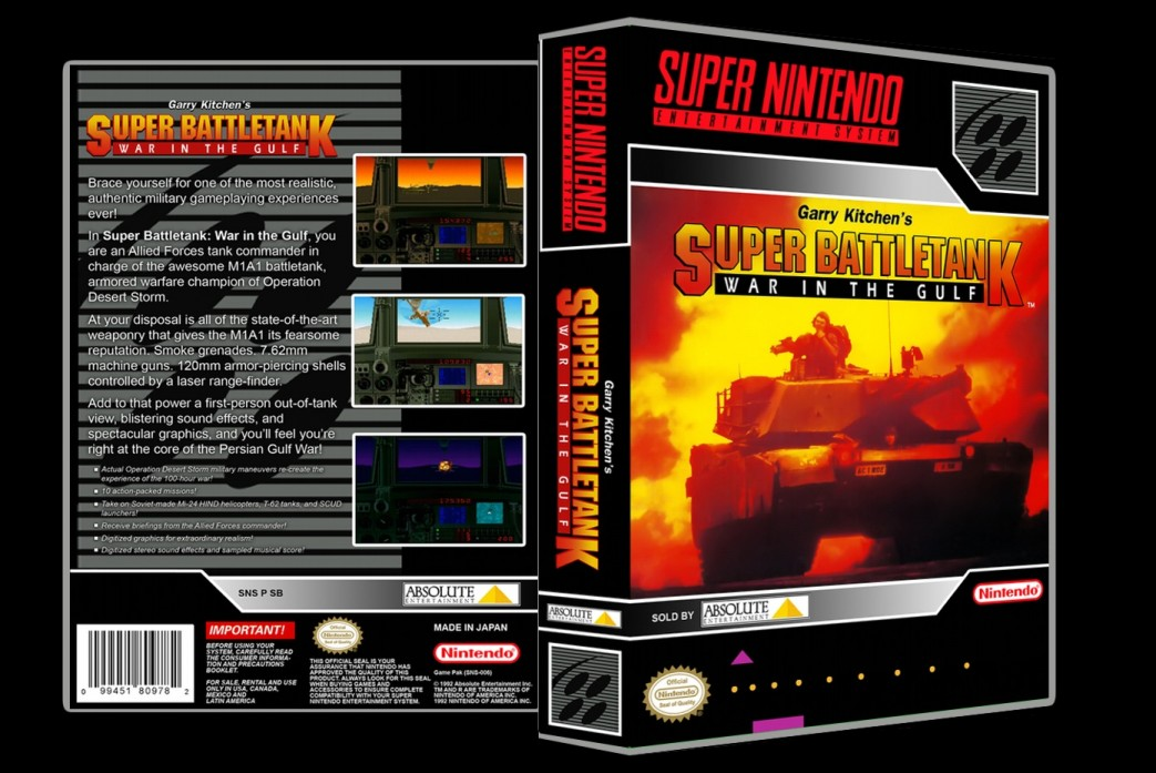 Super Battletank: War in the Gulf -  Game Case