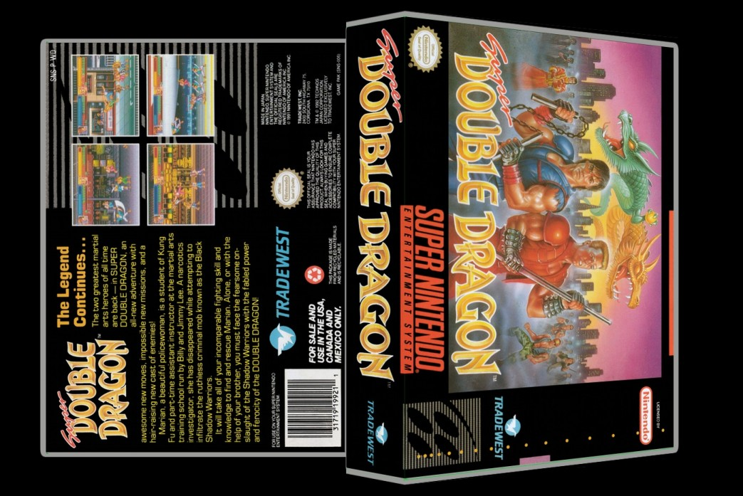 Super Double Dragon -  Game Case